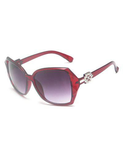 Ombre Embellished Temple Sunglasses - Red Wine