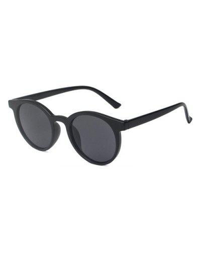 Brief Round Travel Sunglasses - Black