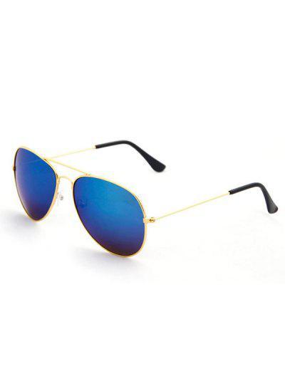 Oval Shape Streetwear Pilot Sunglasses - Golden
