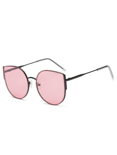 Metal Frame Streetwear Sunglasses - Light Pink