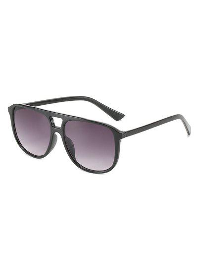 Flat-Top Square Frame Tinted Sunglasses - Ash Gray