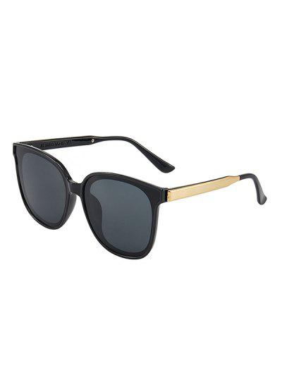 Travel Metal Embellished Sunglasses - Black