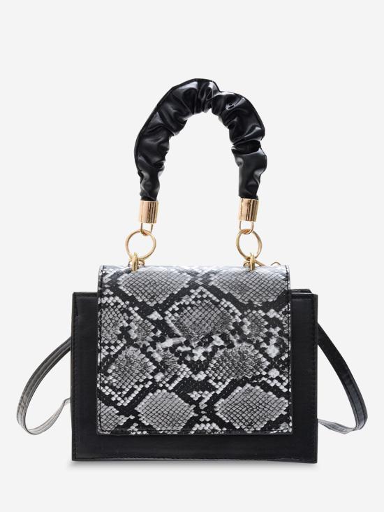 Snakeskin Pattern Cover Square Handbag