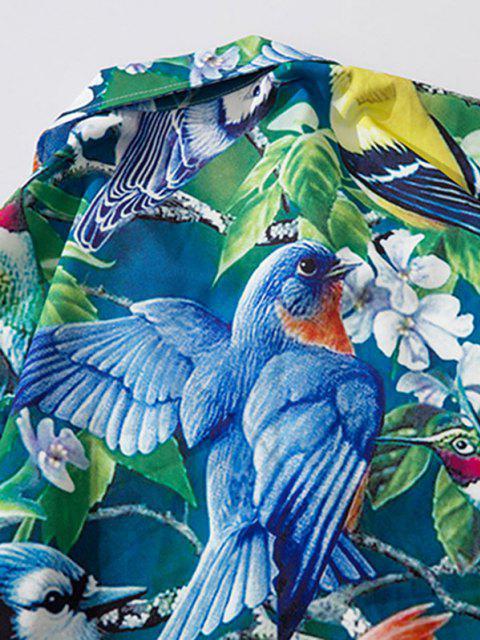 Papagei Tropisches Druck Urlaub Hemd - Mittlerer Frühling Grün L Mobile