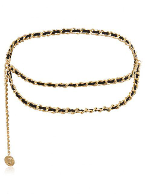 women's Coin Pendant Layered Waist Chain - GOLDEN  Mobile