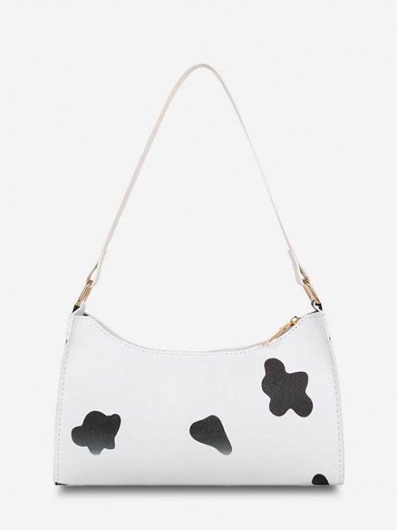 shops Cow Spot Printed Shoulder Bag - BLACK