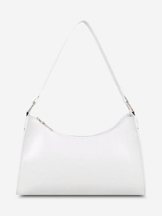 women Minimalist Solid Shoulder Bag - MILK WHITE