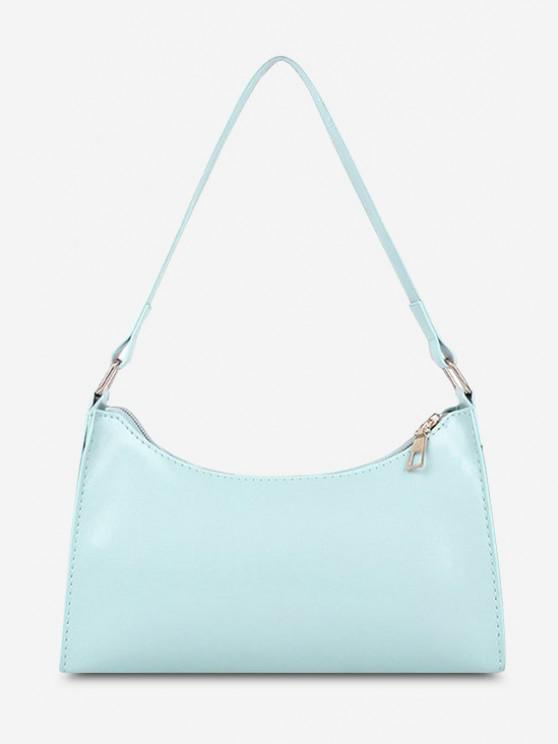 ladies Minimalist Solid Shoulder Bag - MACAW BLUE GREEN