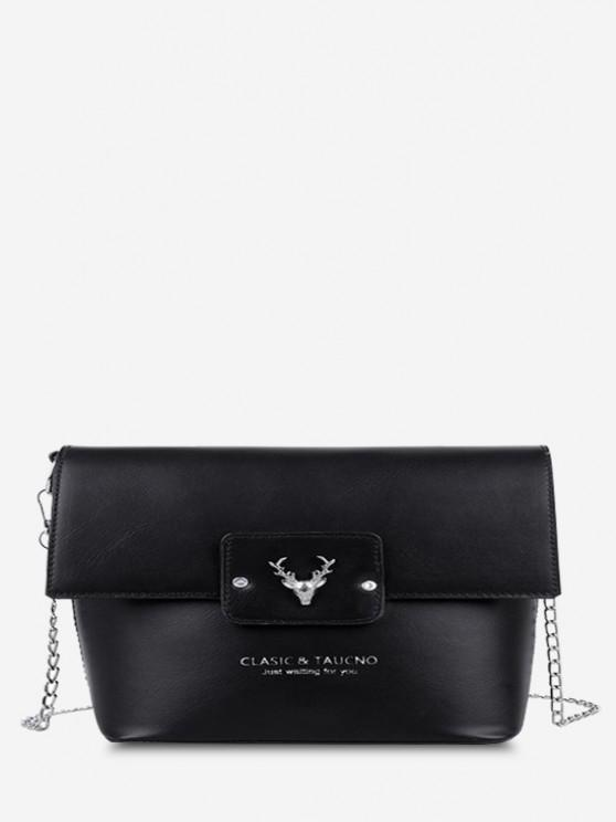 outfits Elk Head Embellished Bucket Bag - BLACK