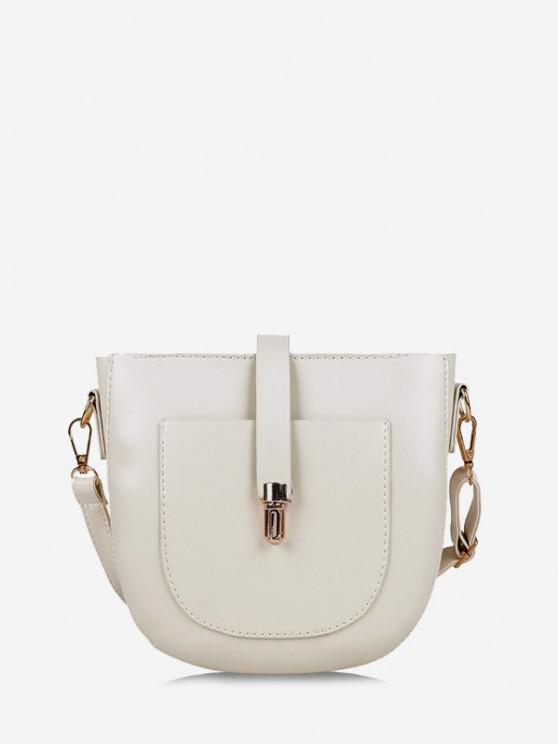 sale Retro Semicircle Crossbody Bag - WHITE