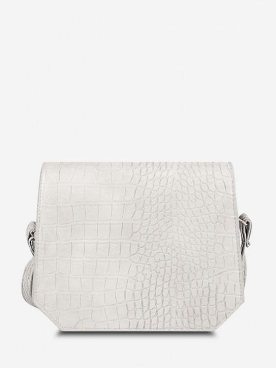 women Irregular Textured Crossbody Bag - WARM WHITE