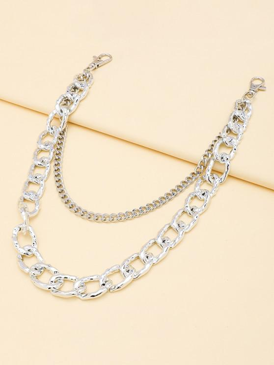 best Layered Boyish Trousers Chain - SILVER