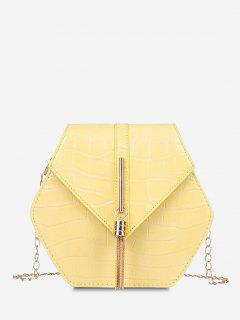 Tassel Hexagon Chain Crossbody Bag - Sun Yellow