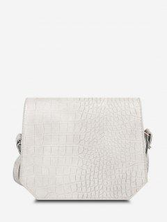 Irregular Textured Crossbody Bag - Warm White