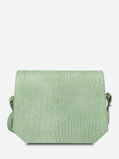Irregular Textured Crossbody Bag - Dark Sea Green