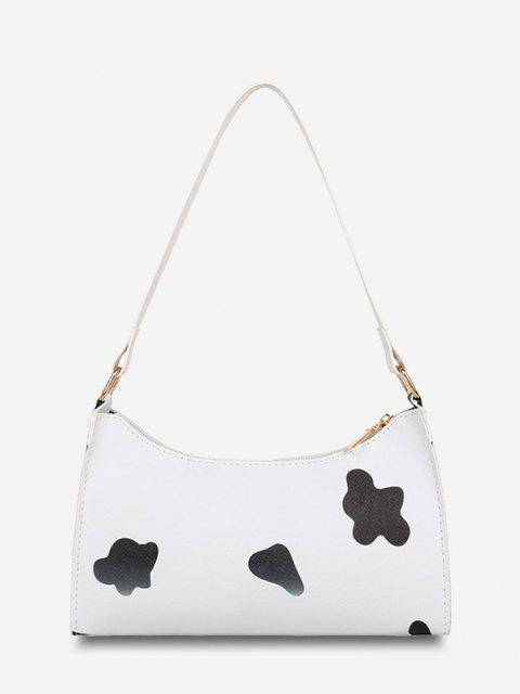 shops Cow Spot Printed Shoulder Bag - BLACK  Mobile
