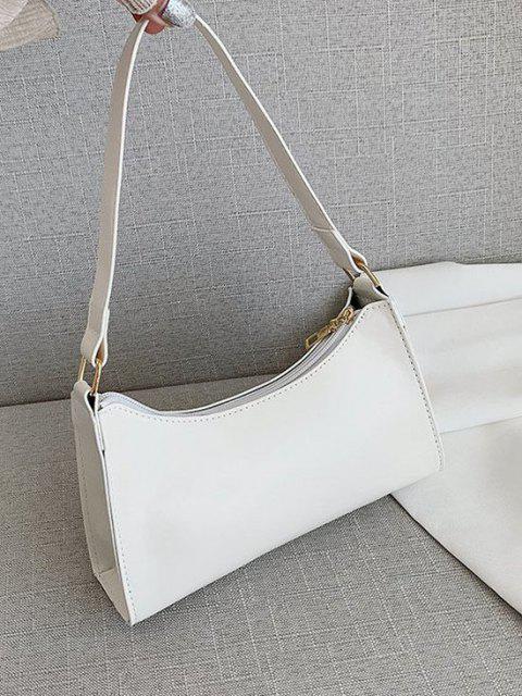 women Minimalist Solid Shoulder Bag - MILK WHITE  Mobile