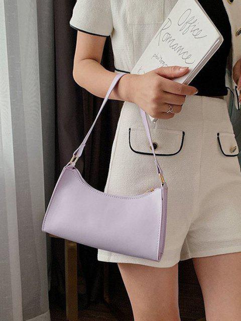 Sac à Bandoulière Minimaliste en Couleur Unie - Violet clair  Mobile