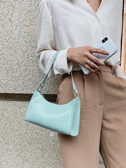 Sac à Bandoulière Minimaliste en Couleur Unie - Bleu Vert Ara   Mobile