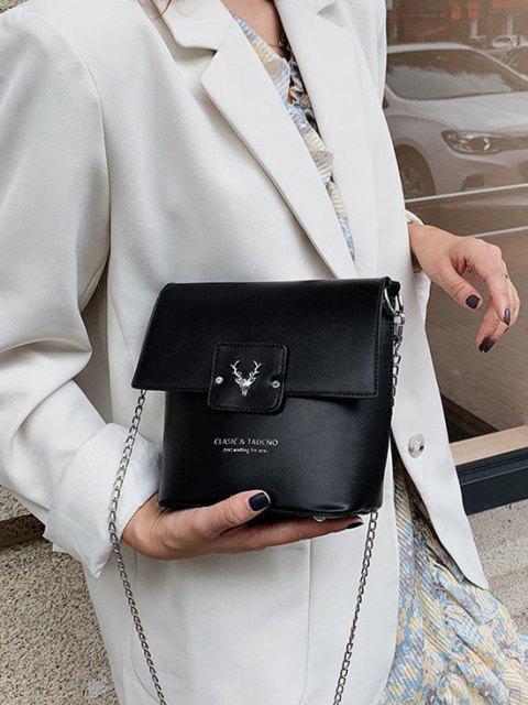 Sac Seau Tête de Wapiti Embelli - Noir  Mobile
