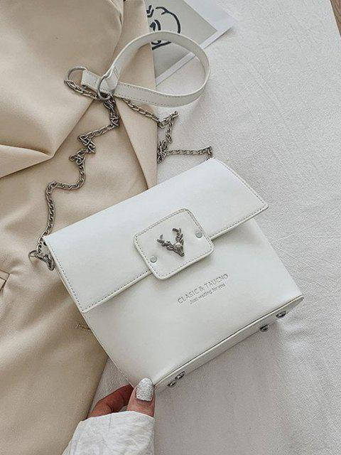 shop Elk Head Embellished Bucket Bag - MILK WHITE  Mobile