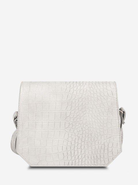 Irregular Textured Crossbody Bag - الأبيض الدافئ  Mobile