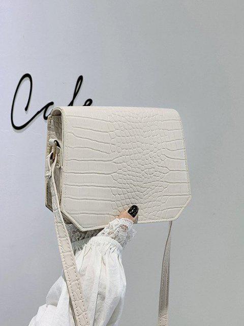 women Irregular Textured Crossbody Bag - WARM WHITE  Mobile