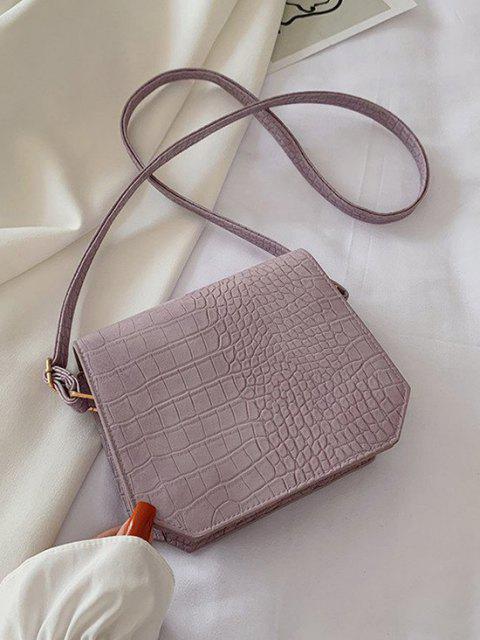 Sac à Bandoulière Texturé Irrégulier - Violet Wisteria  Mobile