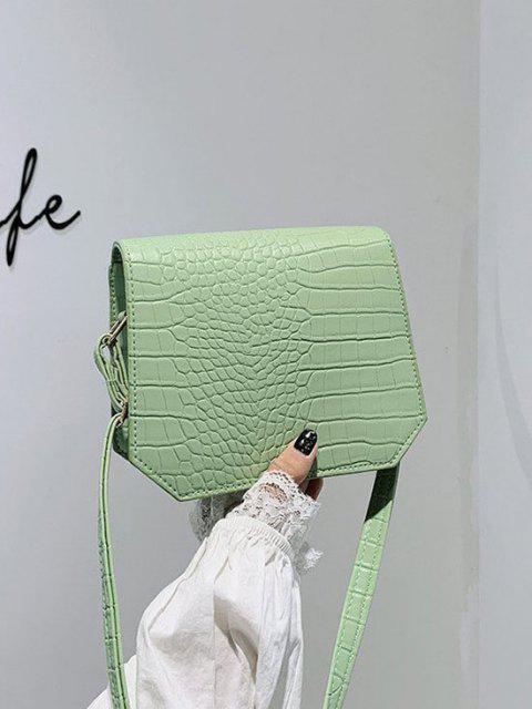 ladies Irregular Textured Crossbody Bag - DARK SEA GREEN  Mobile