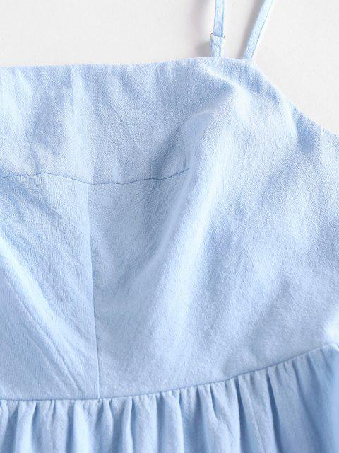 ZAFUL Abgestufte Cami Sommerkleid mit Ausschnitt - Hellblau S Mobile