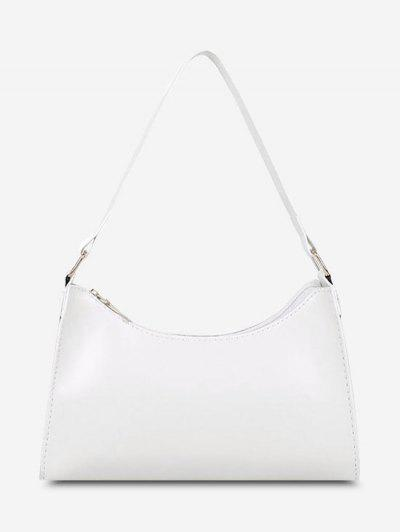 Minimalist Solid Shoulder Bag - Milk White