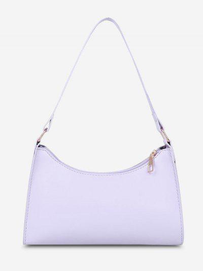 Minimalist Solid Shoulder Bag - Light Purple