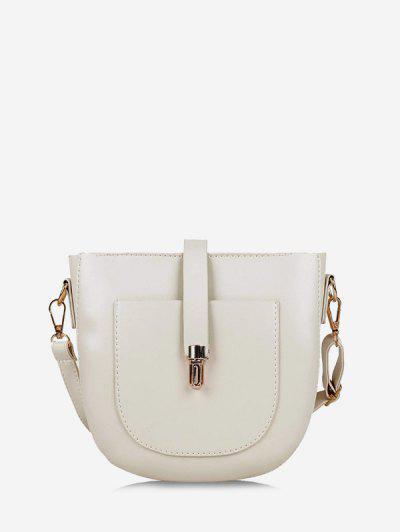 Retro Semicircle Crossbody Bag - White