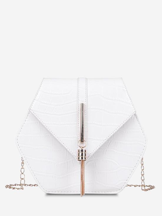 Tassel Hexagon Chain Crossbody Bag
