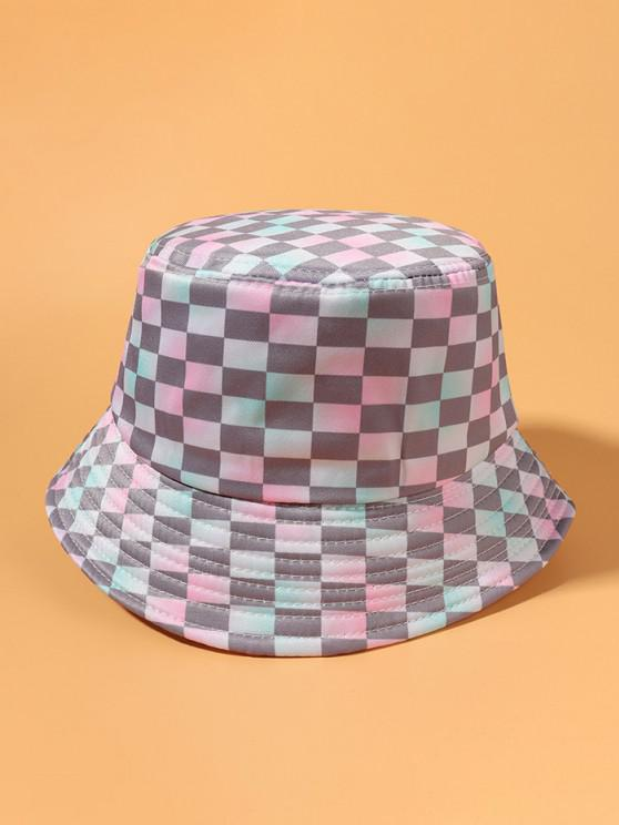 fashion Gradient Checked Printed Bucket Hat - MULTI-A