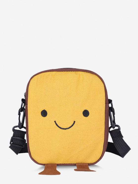 online Lovely Smiling Face Casual Crossbody Bag - SUN YELLOW