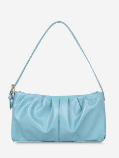 Minimalist Ruched Soft Shoulder Bag - Macaw Blue Green