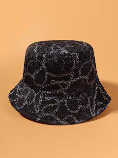 Cappello Da Pescatore Casuale Con Stampa A Catena - Blu  Ardesia Scura