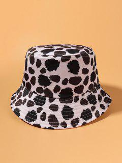 Cow Spot Printed Bucket Hat - White