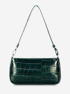 Minimalistic Embossed Rectangle Shoulder Bag - Medium Sea Green