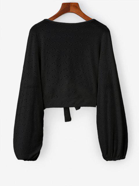 HautCourtChauve-sourisBroderieAnglaiseNouéenAvant - Noir Taille Unique Mobile