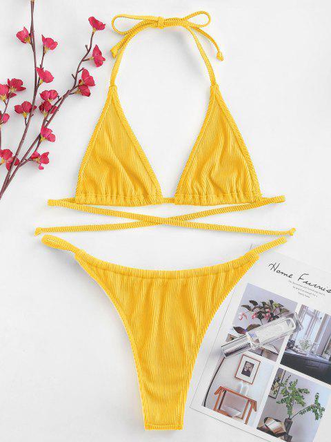 Bikini a Costine di ZAFUL - Giallo S Mobile