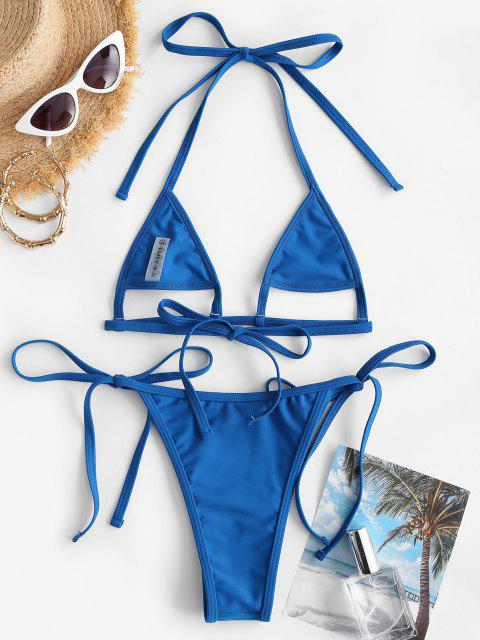 ZAFUL Costume da Bagno Bikini Stringato con Stampa Frutto Della Passione - Blu S Mobile