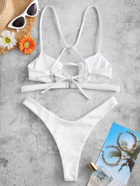 Costume da Bagno Bikini a Gamba Alta di ZAFUL - Bianca M Mobile