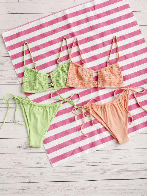 shop ZAFUL Kiss The Sun Bikini - LIGHT ORANGE M Mobile