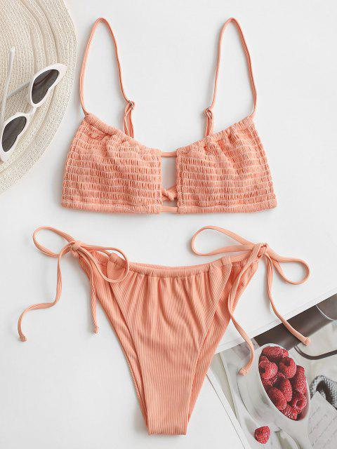 ZAFUL Kiss Kick Fußballdruck Bikini - Hell orange S Mobile