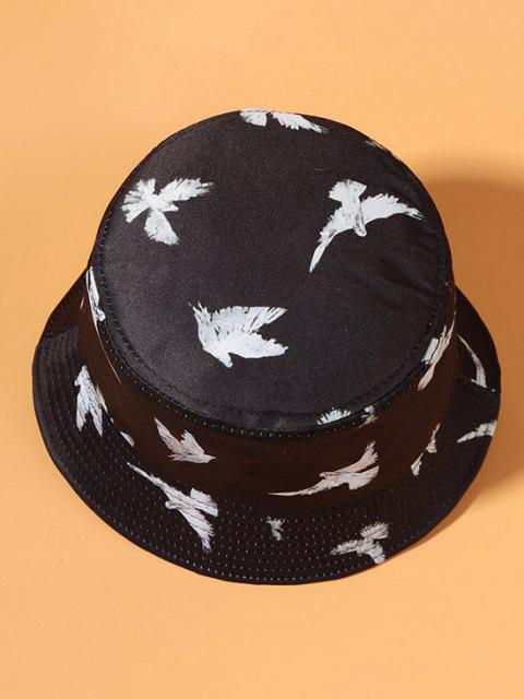 trendy Casual Pigeon Print Outdoor Bucket Hat - BLACK  Mobile