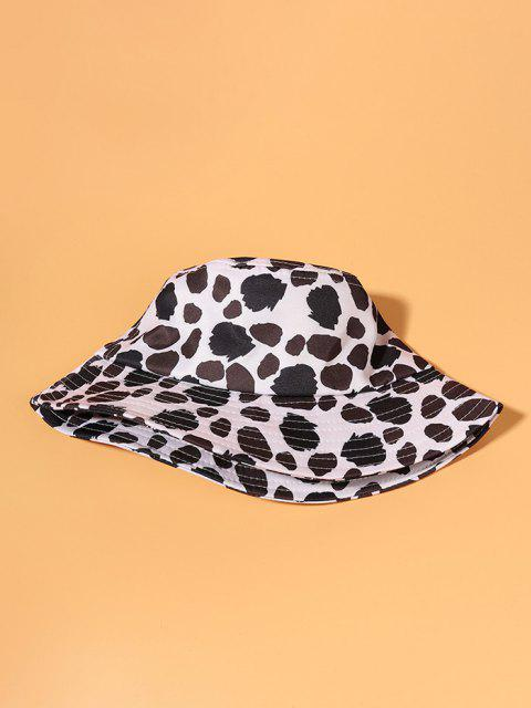 affordable Cow Spot Printed Bucket Hat - WHITE  Mobile
