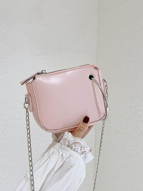 Metal Ring Embellishment Chain Crossbody Bag - زهري  Mobile