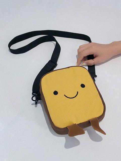 online Lovely Smiling Face Casual Crossbody Bag - SUN YELLOW  Mobile